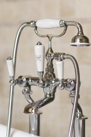 vrijstaande badkraan - klassieke kranen - retro kranen - landelijke badkraan