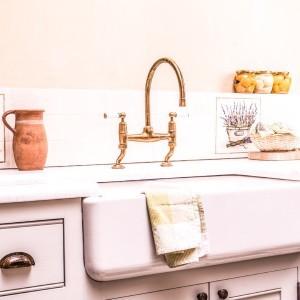 landelijke keukenkraan - koperen kranen