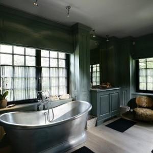 vrijstaand bad - koperen bad