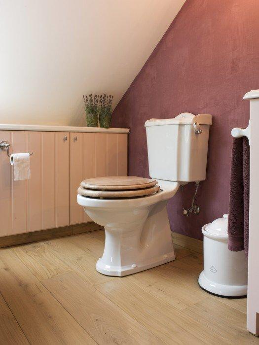 Rose projecten landelijke badkamers taps baths - Kleur wc deco ...