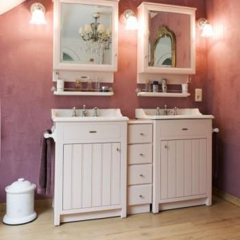 Rose projecten landelijke badkamers taps baths - Badkamermeubels oude stijl ...