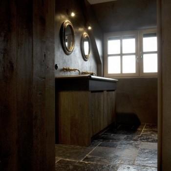 koperen kranen - klassieke kranen - landelijke badkamer - landelijke stijl