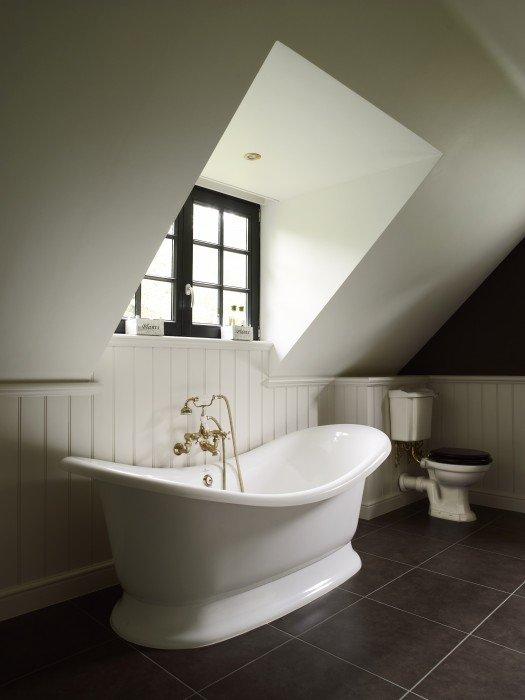 Authentic projecten landelijke badkamers taps baths - Badkamer deco model ...