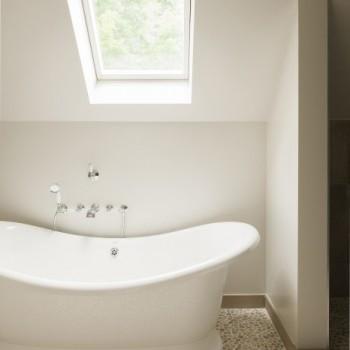 landelijke badkamers - landelijke stijl - vrijstaand bad