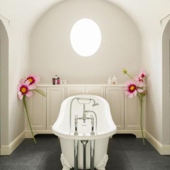 landelijke badkamers - bad op pootjes - bad op poten