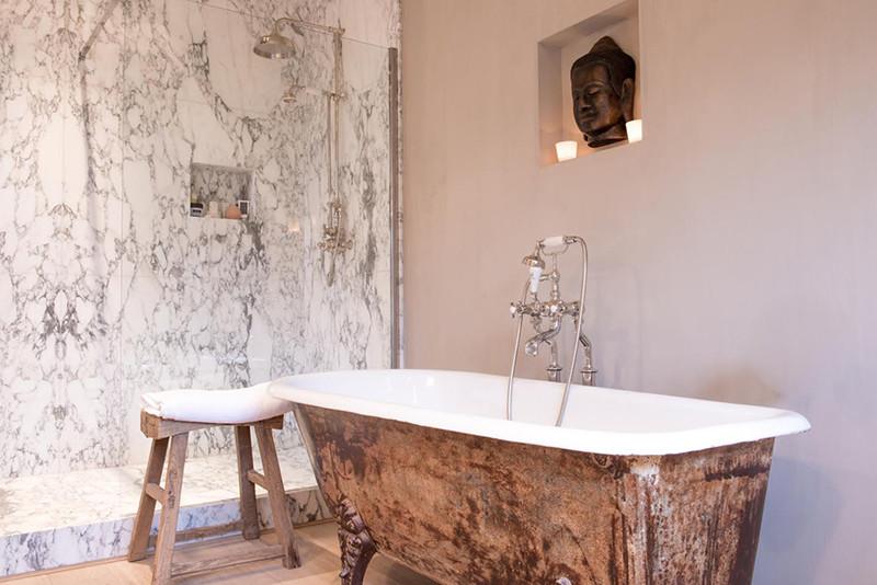 Badkamer landelijke badkamer : Inspiratie Landelijke Badkamers