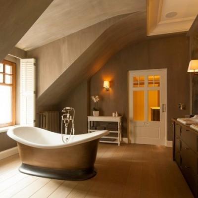 vrijstaand bad - landelijke badkamers