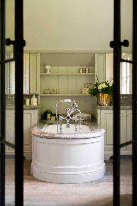 Landelijke badkamer met inloopdouche beste inspiratie voor huis ontwerp - Voorbeeld deco badkamer ...